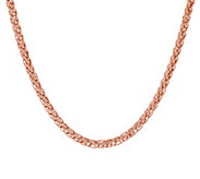 Bronze 24 Polished Spiga Chain Necklace by Bronzo Italia - J291110