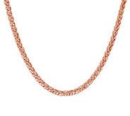 Bronze 24 Polished Spiga Chain Necklace by Bronzo Italia - J291110