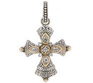 Barbara Bixby Sterling & 18K White Topaz Cross Enhancer - J292510