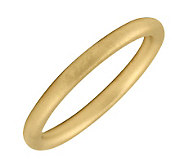 Simply Stacks 18K Yellow Gold-Plated Sterling Ring - Satin - J298810