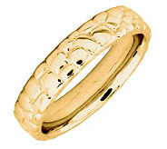 Simply Stacks Sterling 18K YellowGold-Plated Cobble 4.25mmRing - J299010