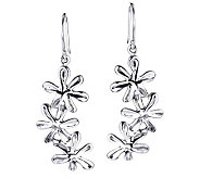 Hagit Gorali Sterling Triple Flower Drop Earrings - J307610