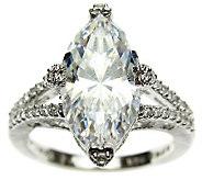 Judith Ripka Sterling 5.15 cttw Diamonique Ring - J309010