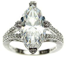Judith Ripka Sterling 5.15 cttw Diamonique Ring
