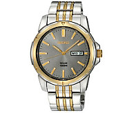 Seiko Mens Two-Tone Stainless Steel Solar Power Dress Watch - J315510