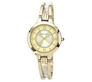 Anne Klein Womens Goldtone or Two-Tone Bracelet Watch - J316310