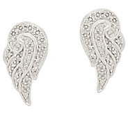 Angel Wing Diamond Studs Sterling, 1/8 cttw, by Affinity - J318510