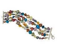 As Is Honora Cultured Keshi Pearl Average Multi- Row Bracelet - J318610