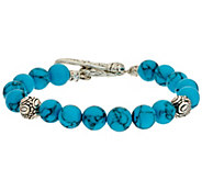 JAI Sterling Croco & Gemstone Bead Toggle Bracelet - J319810