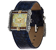 Barbara Bixby Stainless & 18K East West Leather Multi- Gemstone Watch - J320710