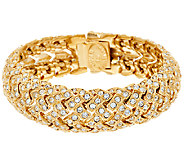 Joan Rivers Estate Style Pave Basket Weave Bracelet - J321610