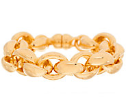 As Is Oro Nuovo 7-1/4 Status Rolo Link Bracelet, 14K - J322010