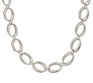 Judith Ripka Sterling 1.85 cttw Diamonique Link Necklace - J322510