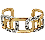 Carolyn Pollack Sterling & Brass Interlocking Design Cuff - J323710
