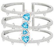 Judith Ripka Sterling 8.10 cttw Blue Topaz Cuff Bracelet - J329610