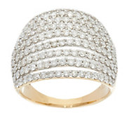 Pave Diamond Multi-Row Band Ring, 14K, 2.00 cttw, by Affinity - J331110