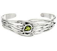 Hagit Sterling Silver Peridot Cuff Bracelet - J331610