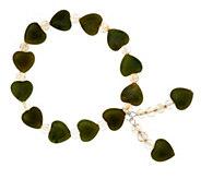 As Is Connemara Marble Stretch Heart Bracelet - J332410