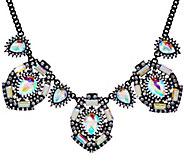 LOGO Links by Lori Goldstein Crystal Prism Bib Necklace - J332910