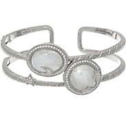 Judith Ripka Sterling Moon & Stars Moonstone Cuff Bracelet - J333510