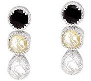 DeLatori Sterling Onyx, Lemon Quartz & Cyrstal Quartz Earrings - J334410