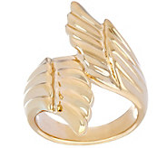 14K Gold Polished Angel Wings Bypass Design Ring - J334510