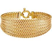 Dieci 6-3/4 Braided Mesh Bracelet 10K Gold, 8.1g - J334710