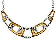 Carolyn Pollack Sterling Silver and Brass Coronation Necklace - J334910