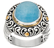 Artisan Crafted Sterling Silver & 18K Gold Gemstone Ring - J335910