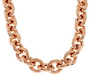 As Is Bronze 18 Status Rolo Link Magnetic Necklace by Bronzo Italia - J346010