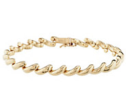 As Is VicenzaGold 8 Polished San Marco Bracelet 14k, 9.0g - J346810