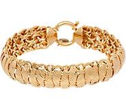 14K Gold 6-3/4 Diamond Cut Domed Bracelet, 9.7g - J347510