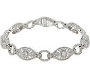 Judith Ripka Sterling_6-3/4 Pave Cross Diamonique Bracelet - J348010