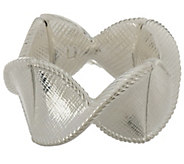 As Is Paola Valentini Sterling Criss Cross Textured StretchBracelet - J350310