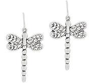 Or Paz Sterling Dragonfly Dangle Earrings - J354310