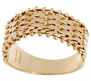 Imperial Gold Satin Lame Band Ring, 14K Gold - J356010