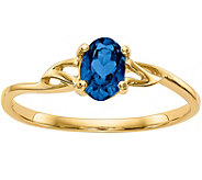 14K Oval Gemstone Solitaire Ring - J377010
