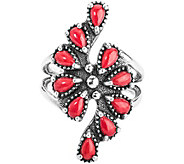 Red Coral Cluster Ring by American West - J377810
