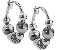 American West Sterling Beaded 5/8 Hoop Earring - J379610