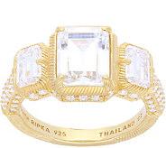 Judith Ripka Sterling & 14K Clad 4.10 cttw Diamonique Ring - J380010