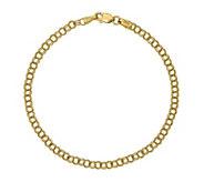 14K Gold 8-1/4 Double Link Charm Bracelet, 2.7g - J381510