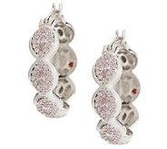 Hidalgo Diamonique Sterling&Enamel Marquise Hoop Earrings - J261211