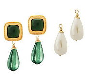 Linea by Louis DellOlio Changeable Drop Colorful Earrings - J267611