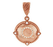 Judith Ripka Sterling & 14K Rose Gold Clad Initial Enhancer - J283411