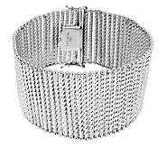 Vicenza Silver Sterling 8 Bold Diamond Cut Bar Station Bracelet, 39.5g - J284311