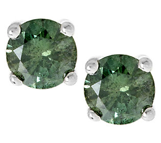 Product image of Round Diamond Stud Earrings, Sterling, 1/2 cttw by Affinity