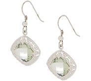 JMH Jewellery Sterling and Green Amethyst Earrings - J295111