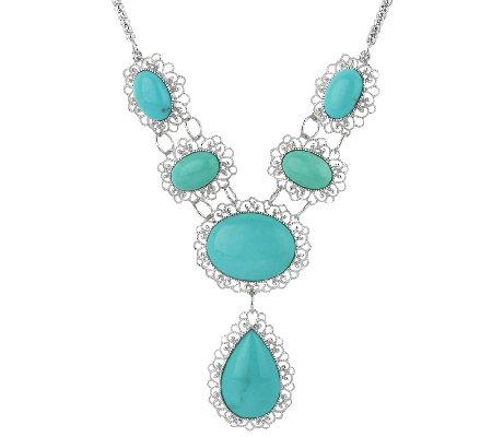bold citos turquoise sterling lace design necklace j296311 qvc