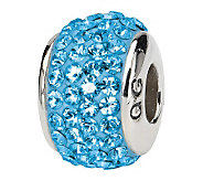 Prerogatives Sterling Sky Blue Full Swarovski Crystal Bead - J299611