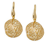 Arte dOro Floral Lace Bead Dangle Earrings, 18K Gold - J300611
